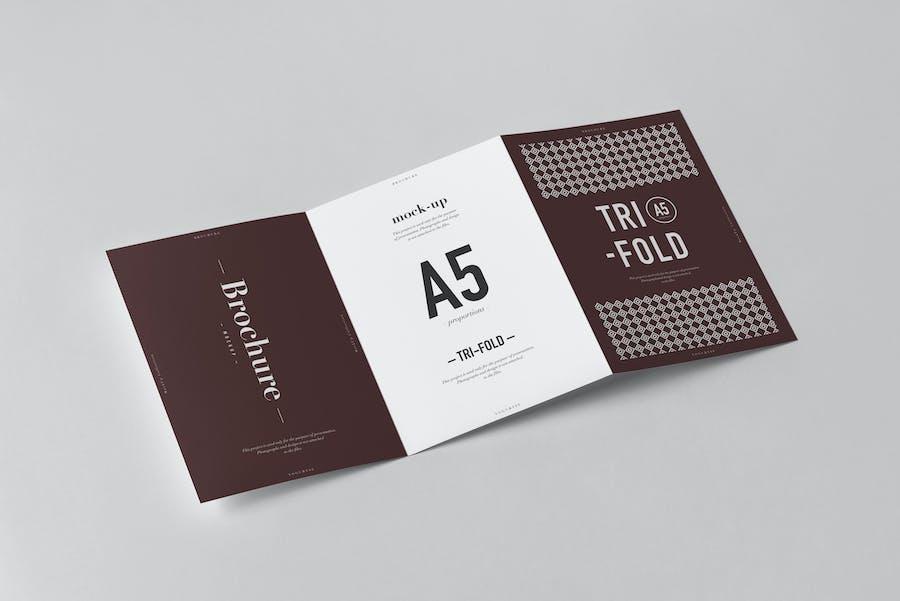 Tri-Fold A5 Brochure Mock-up 2 - 2