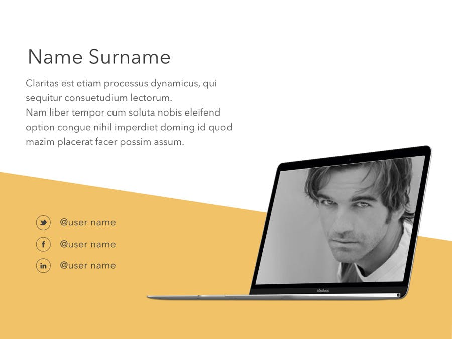 Orange Touch Keynote Template - 3