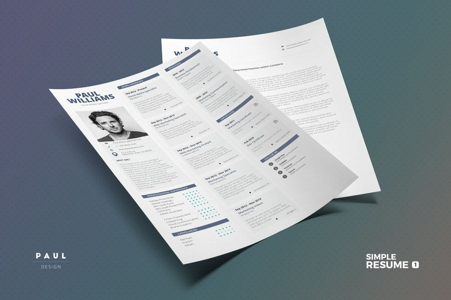 Simple Resume/Cv Volume 1 - 0