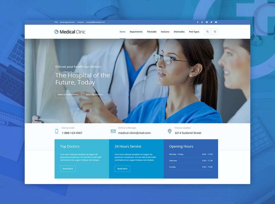 Medical Clinic - Health & Doctor Medical WP Theme - 1