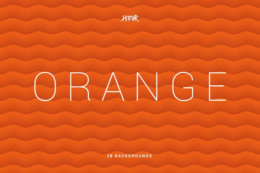 Orange | Soft Abstract Wavy Backgrounds - 1