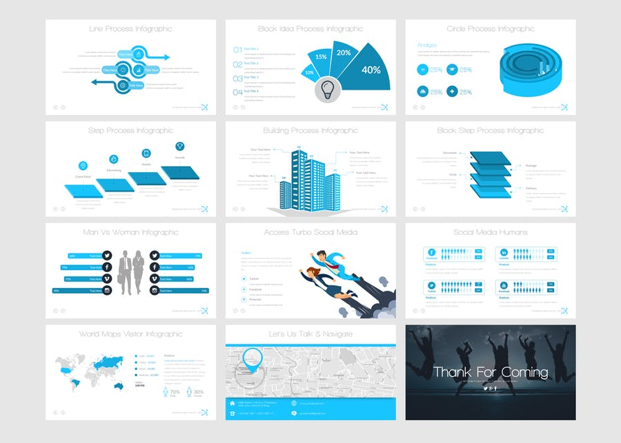 Galaxi Powerpoint Template - 1