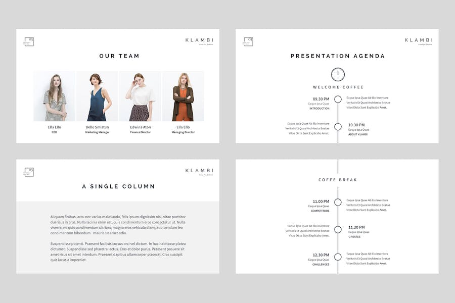 Fashion Keynote Template - 1