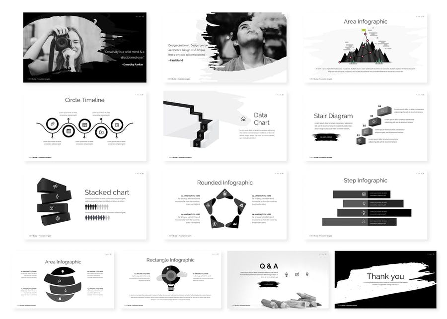 Brusher Powerpoint Template - 1