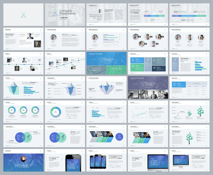 The X Note - Powerpoint Template - 0