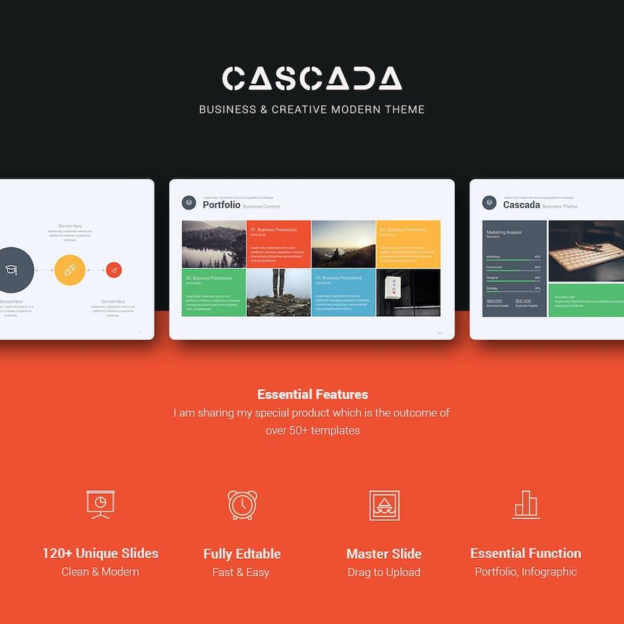 Cascada Keynote Modern Template - 1