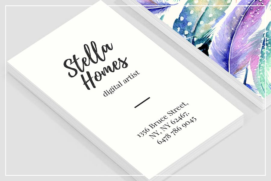 Wild Feathers Business Card Template - 2