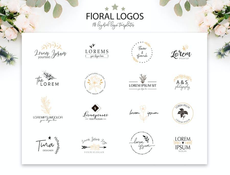 Elegant Floral Logo Templates - 0