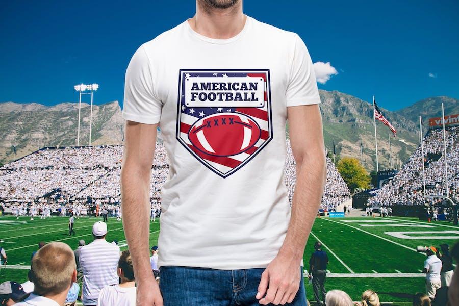 Vintage American Football Logos / USA Sports Badge - 2