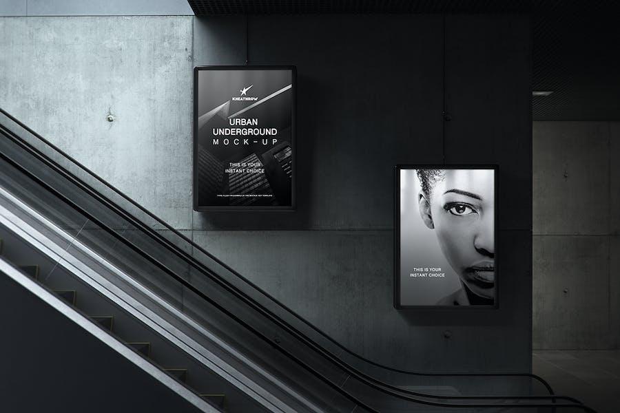 Urban Underground Lightbox / Billboard Mock-Ups - 2