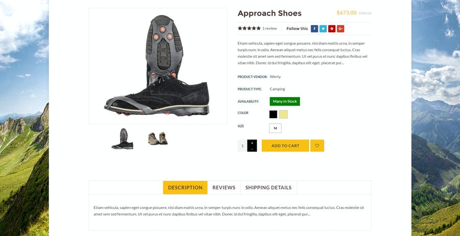 Hiking & Camping- Outdoor, Adventure Shopify Theme - 3
