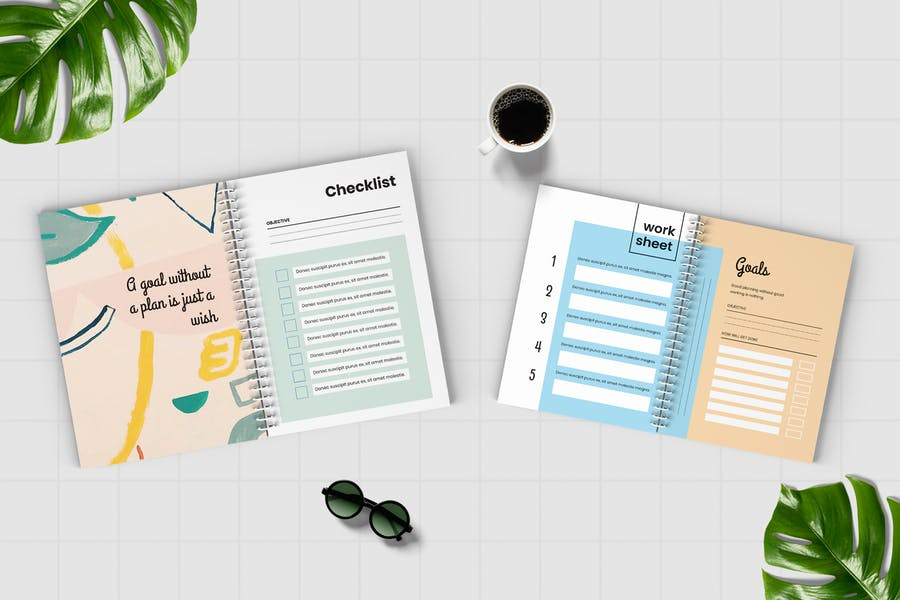 Worksheet Daily Planner Book - Two - 3