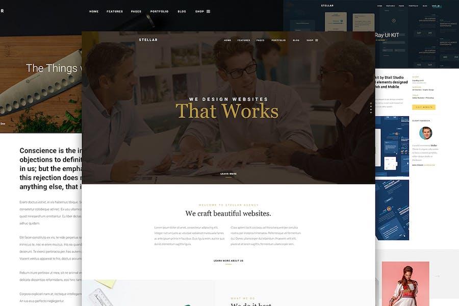 Stellar - One page multipurpose html template - 1