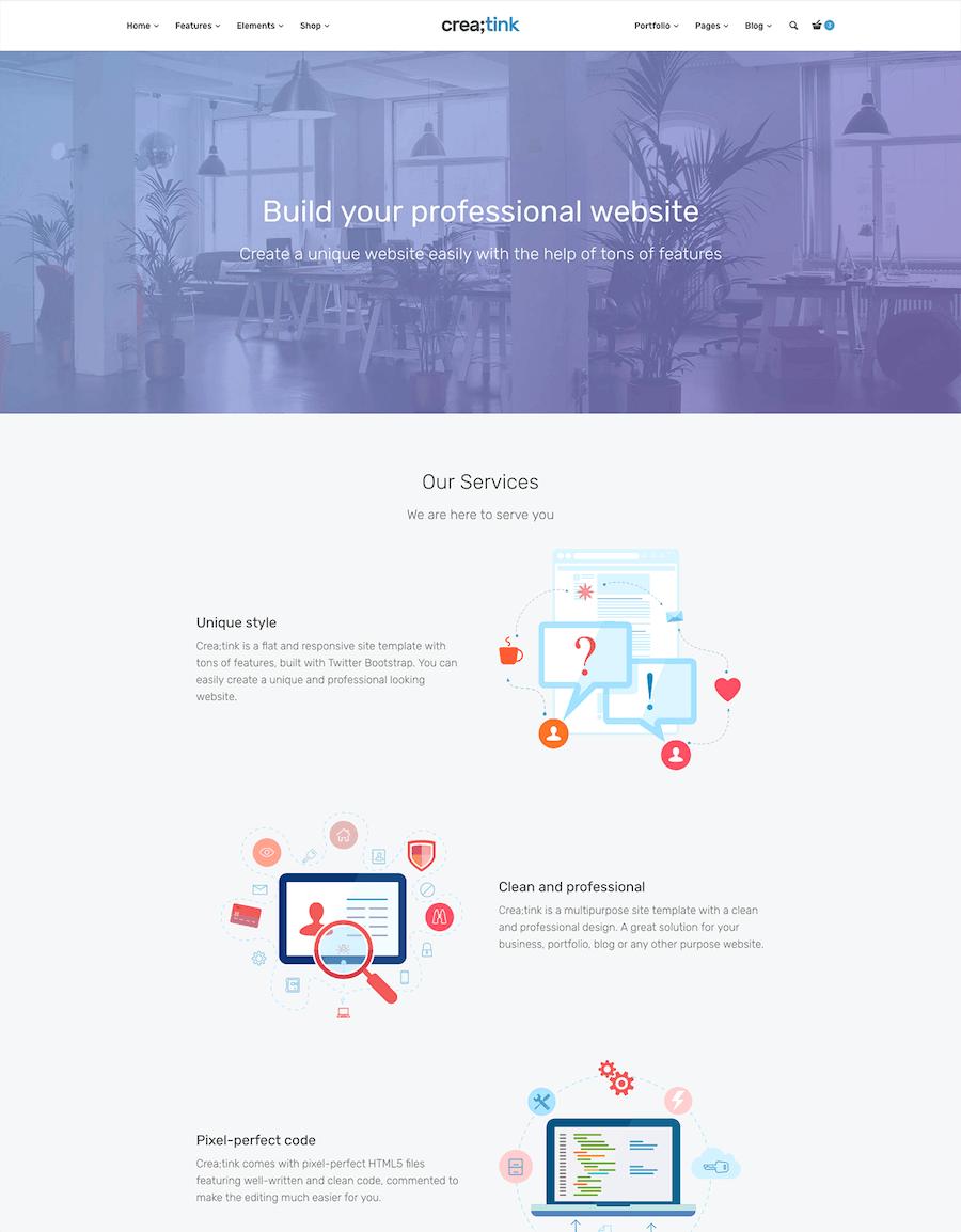 Crea;tink Multi-Concept HTML5 Template - 0