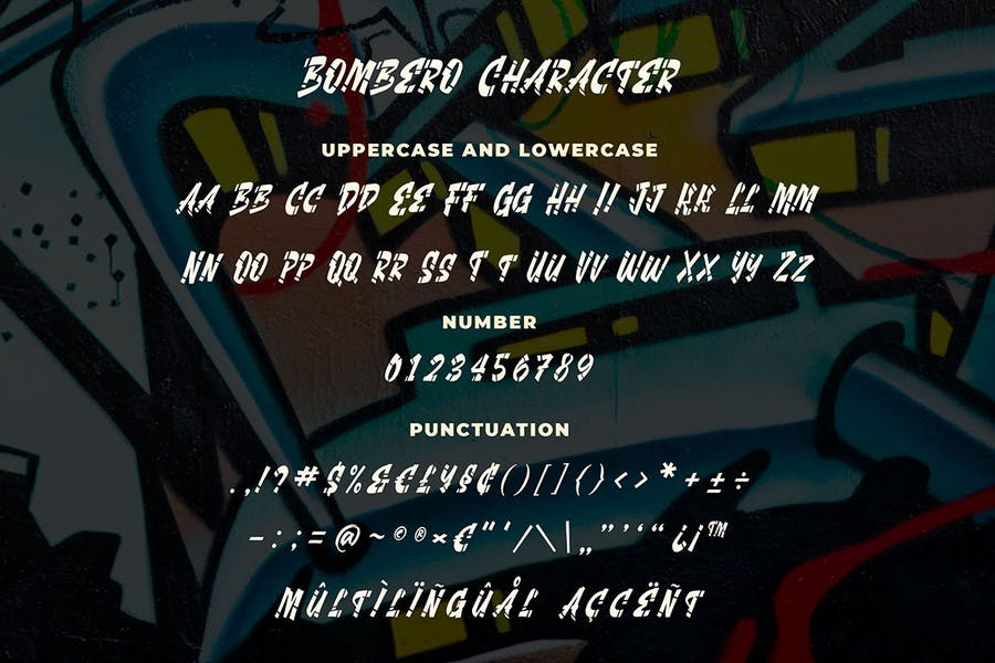 Bombero - Graffiti Font - 2