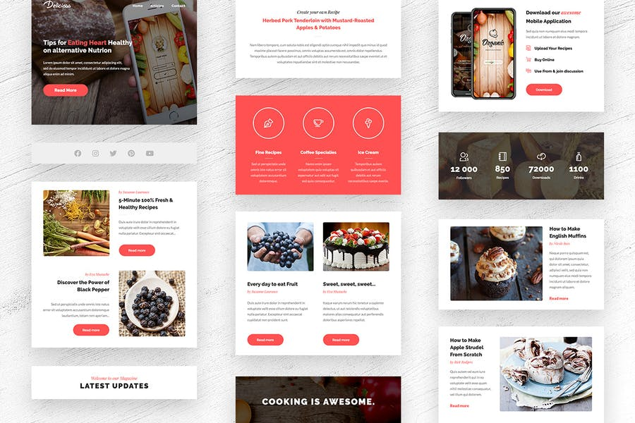 Delicious - Magazine & Shop E-newsletter Template - 1