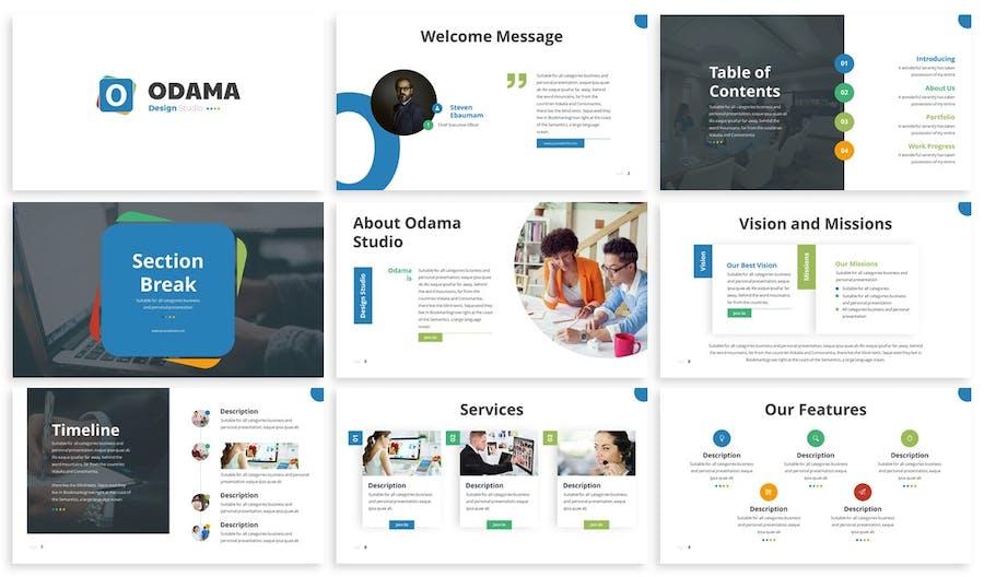 Odama - Multipurpose Powerpoint Template - 0