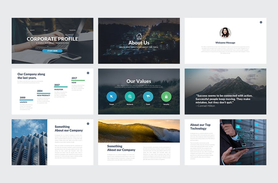 Company Profile Keynote Template - 0