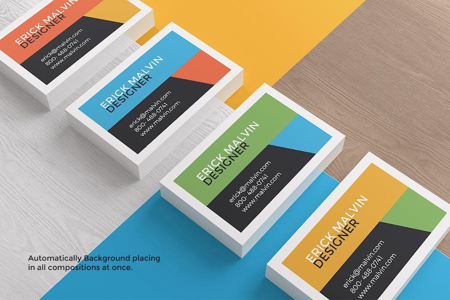 UK Business Cards Mock-up's [85×55 mm] - 2