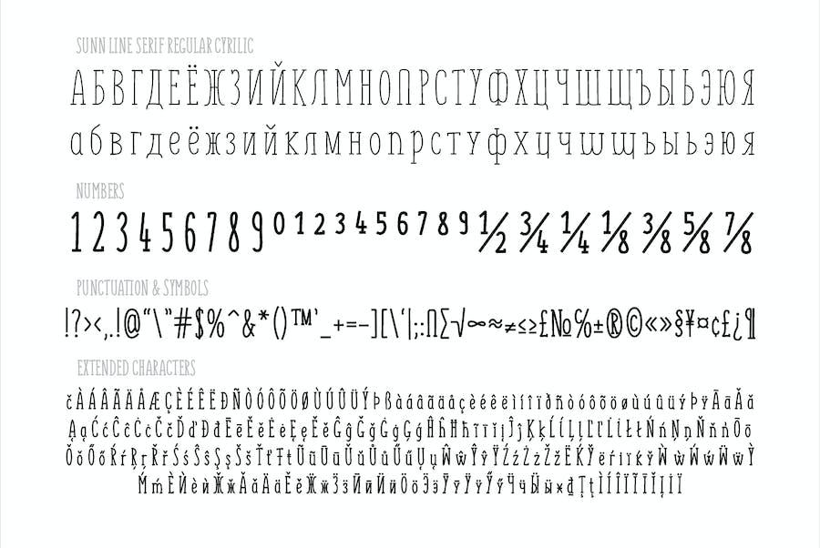 SUNN Line Serif Extended Font - 1