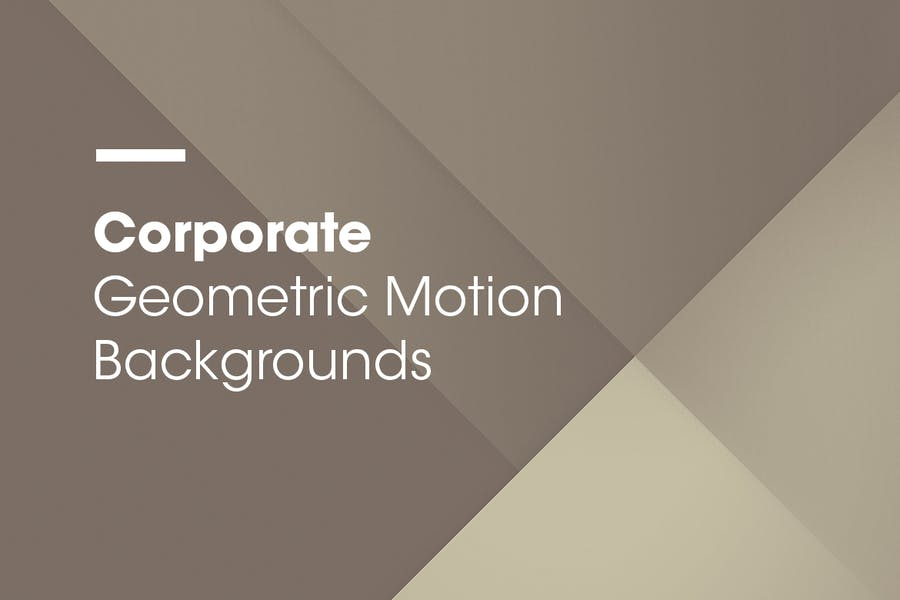 Corporate | Geometric Motion Backgrounds | Vol. 02 - 2