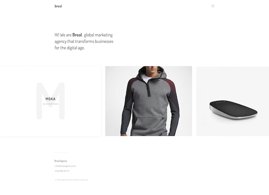 Breal - Minimal Website PSD Template - 0