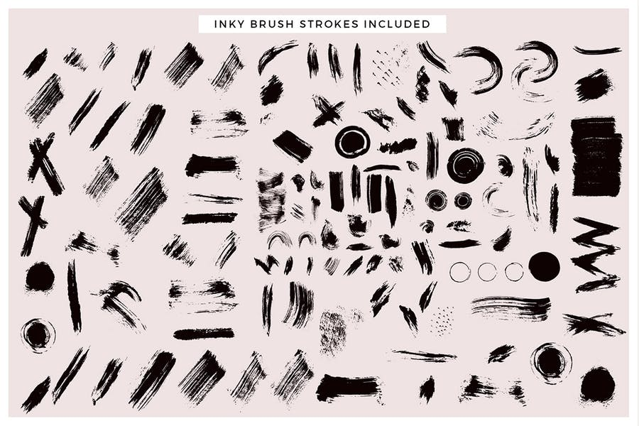 Inky Brush Strokes Graphic Collection - 0