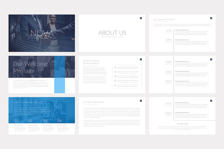 Nova Business Keynote Template Pitch Deck - 0