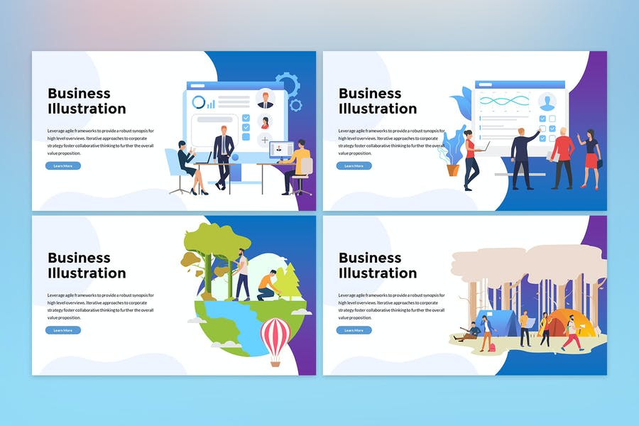 Business Illustration Presentation - 0