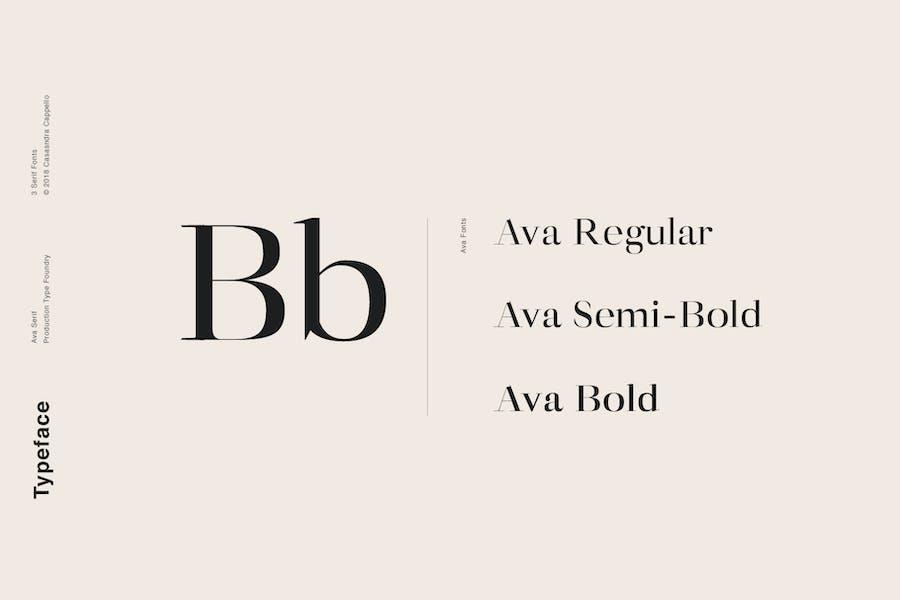 Ava - A Classy Serif Typeface - 0