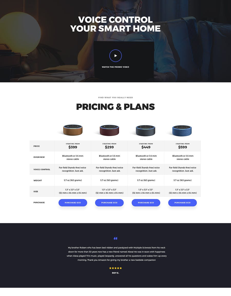 Eco - HTML Product Landing Page - 3