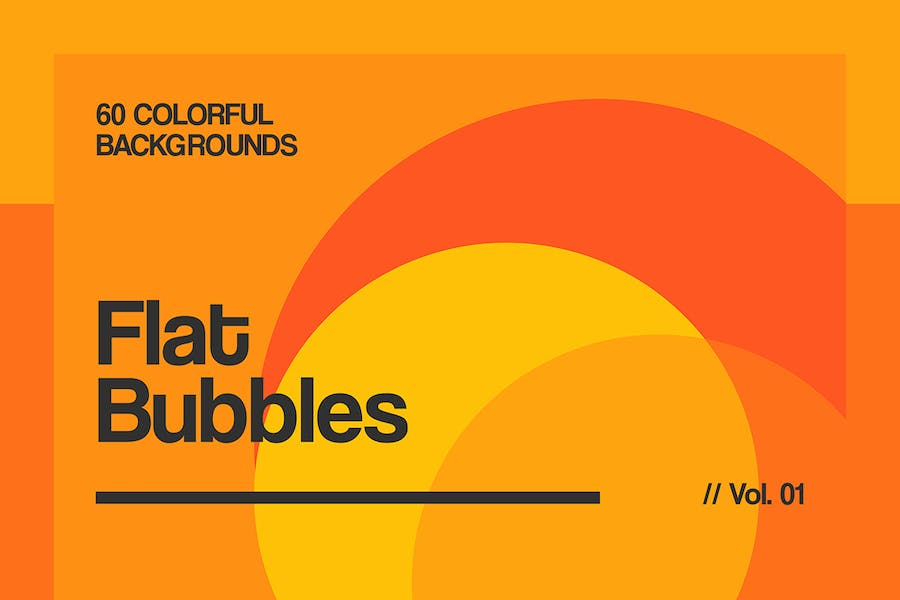 Flat Bubbles | Colorful Backgrounds | Vol. 01 - 0