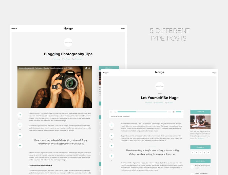 Norge - Responsive Blog WordPress Theme - 0