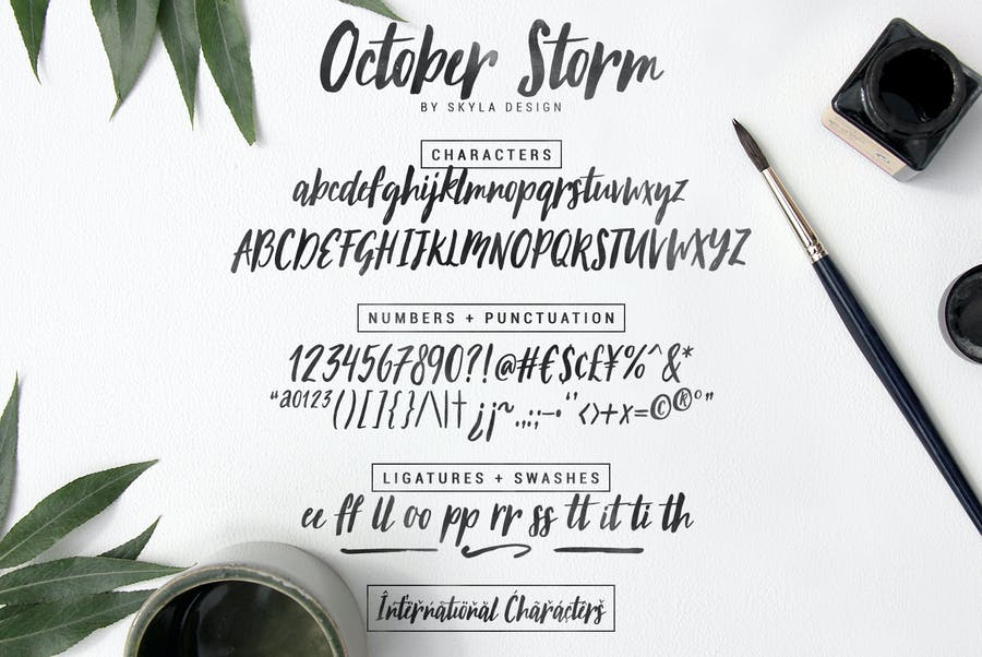 Modern brush font - October Storm - 3