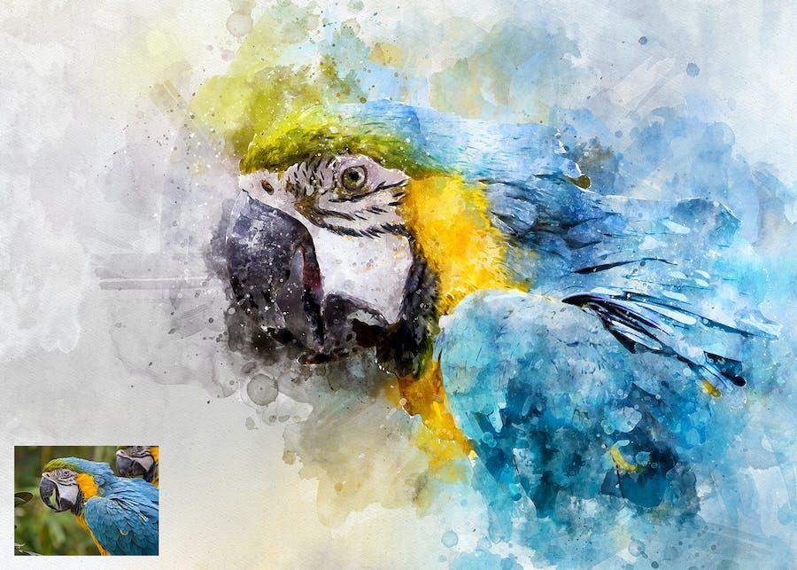 Perfectum 2 - Watercolor Artist Photoshop Action - 2