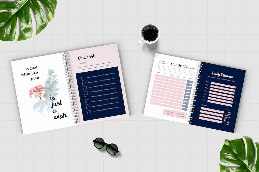 Worksheet Daily Planner Book - Three - 3