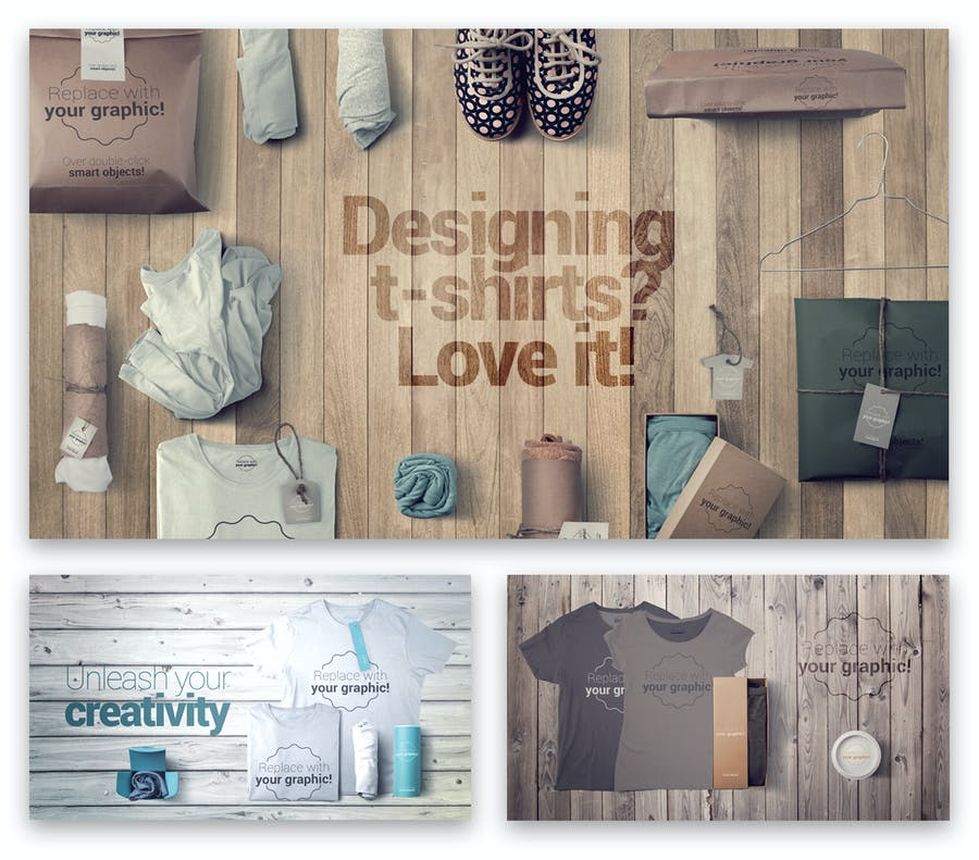 T-shirt and Packages Mockups & Scene Generator - 1