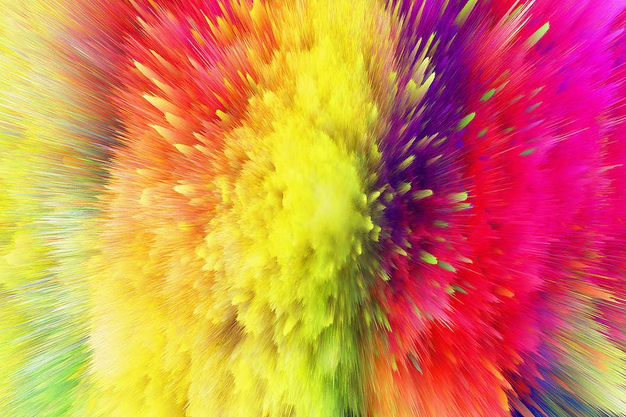 Explosion of Colorful Dust Backgrounds - 0