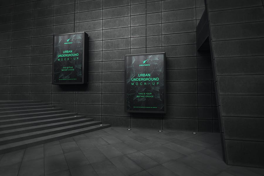 Urban Underground Lightbox / Billboard Mock-Ups - 1