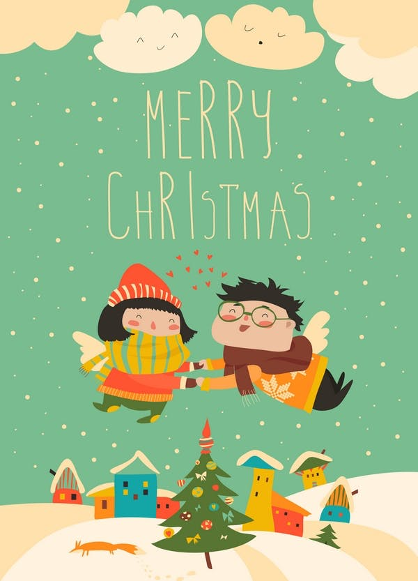 Stylish Christmas card in vector - 0
