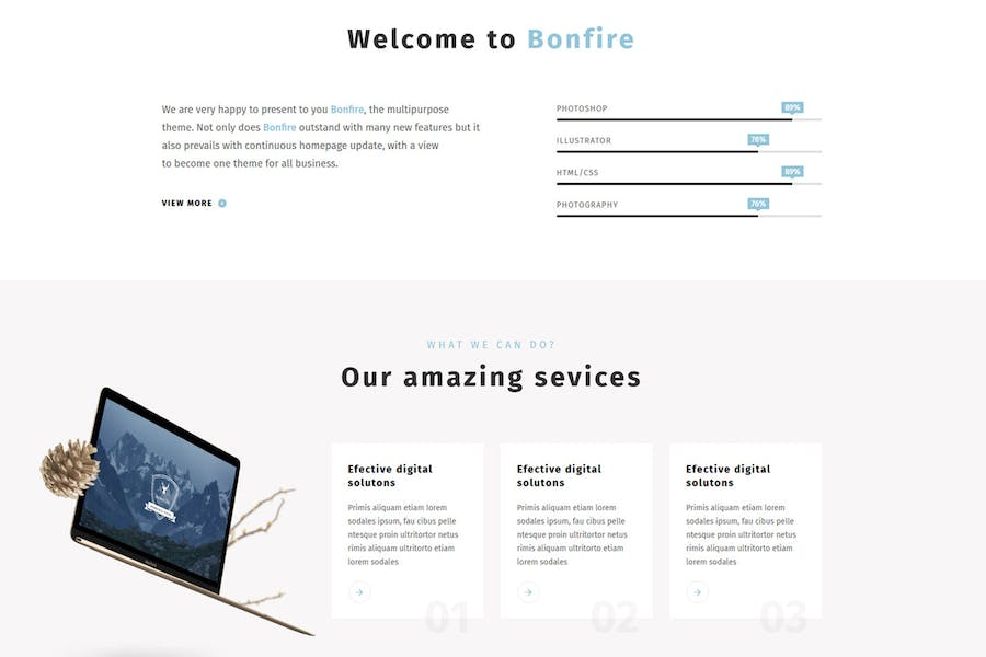 Bonfire - Creative Multipurpose WordPress Theme - 3