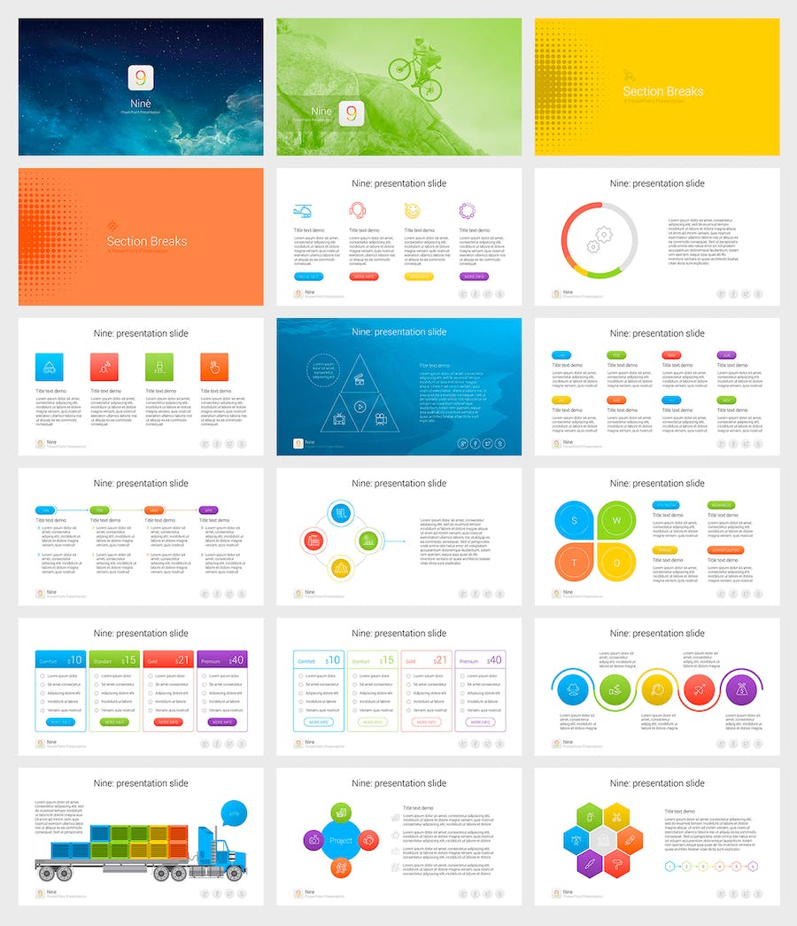 Nine - Multipurpose PowerPoint Template - 1