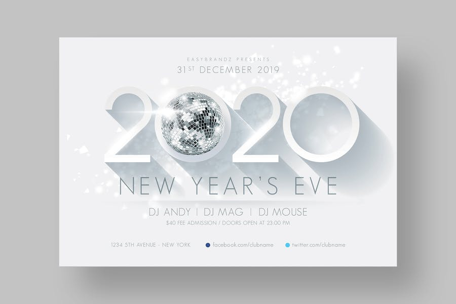 2020 New Years Flyer Template - 0