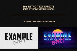 80's Retro Text Effects vol.1 - 0