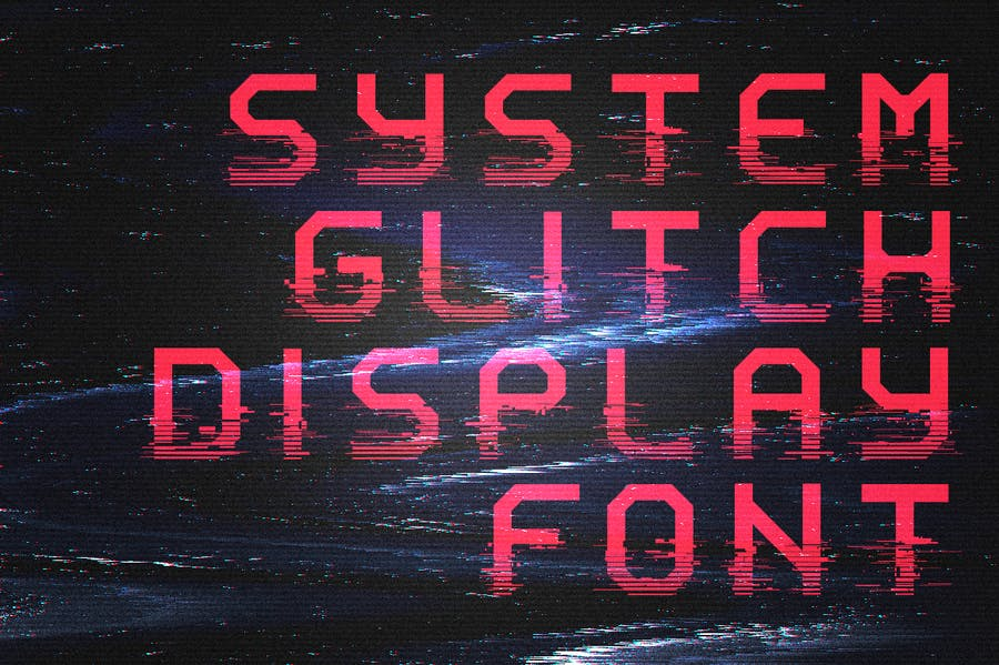 System Glitch - Display Font - 1