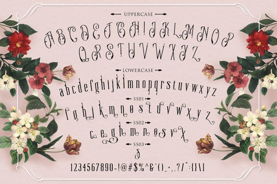 Moody Blue Typeface - 2