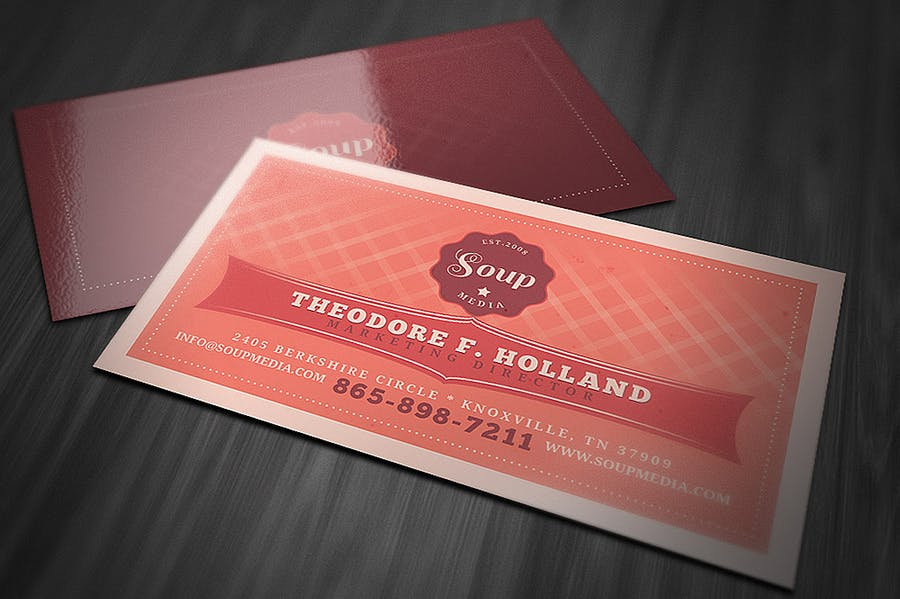 Retro Business Card Template - 1