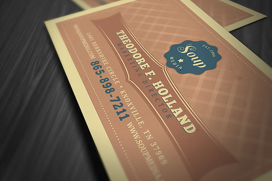 Retro Business Card Template - 0