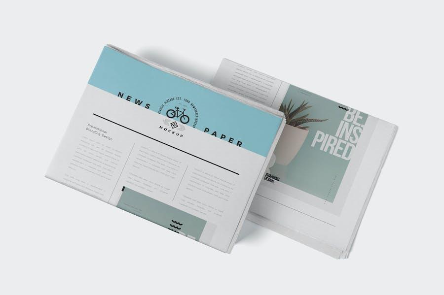 Professional Newspaper Ad PSD Mockups - 3