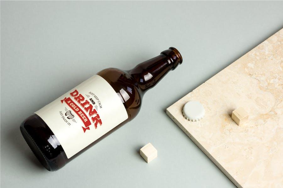 Beer Bottle Mock-up / Real Photo Scene - 3